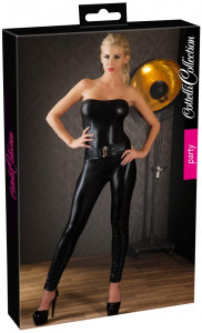 Tube jumpsuit (strapless) wetlook, Cottelli Collection