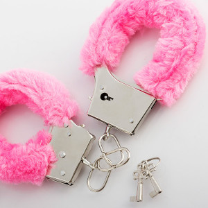 Xειροπέδες Metal Handcuff with Plush Pink